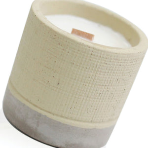 Concrete Wood Wick Candle - Coffee