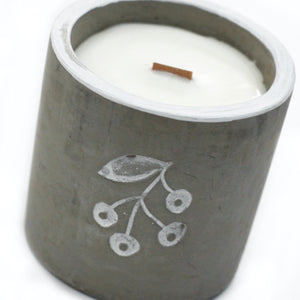 Concrete Wood Wick Candle - Juniper & Sweet Gin