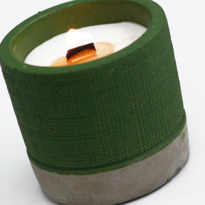 Concrete Wood Wick Candle - Sea Moss and Herbs