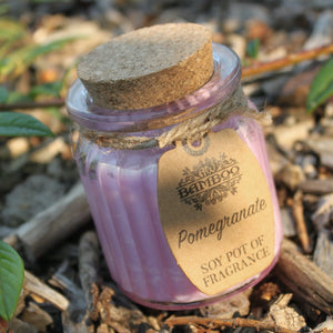 Pomegranate Soy Glass Jar Candles Missy Moo