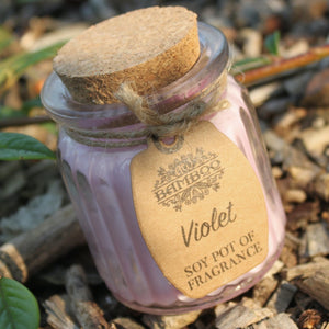 Violet Soy Glass Jar Candles Missy Moo