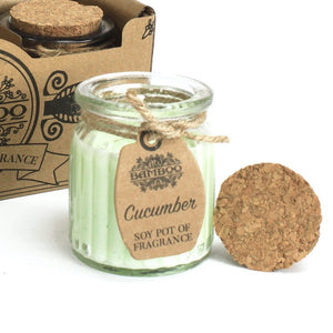 Missy Moo Cucumber Soy Glass Jar Candles
