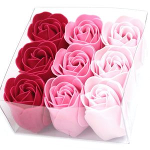 Gift Set of 9 Soap Flowers