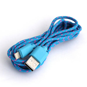 iPhone Charger Cable - Fabric - iPhone 5, 5s, SE, 6, 7, 8, X, Plus