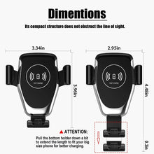 Load image into Gallery viewer, FDGAO 10W Car Mount Wireless Charger - Black