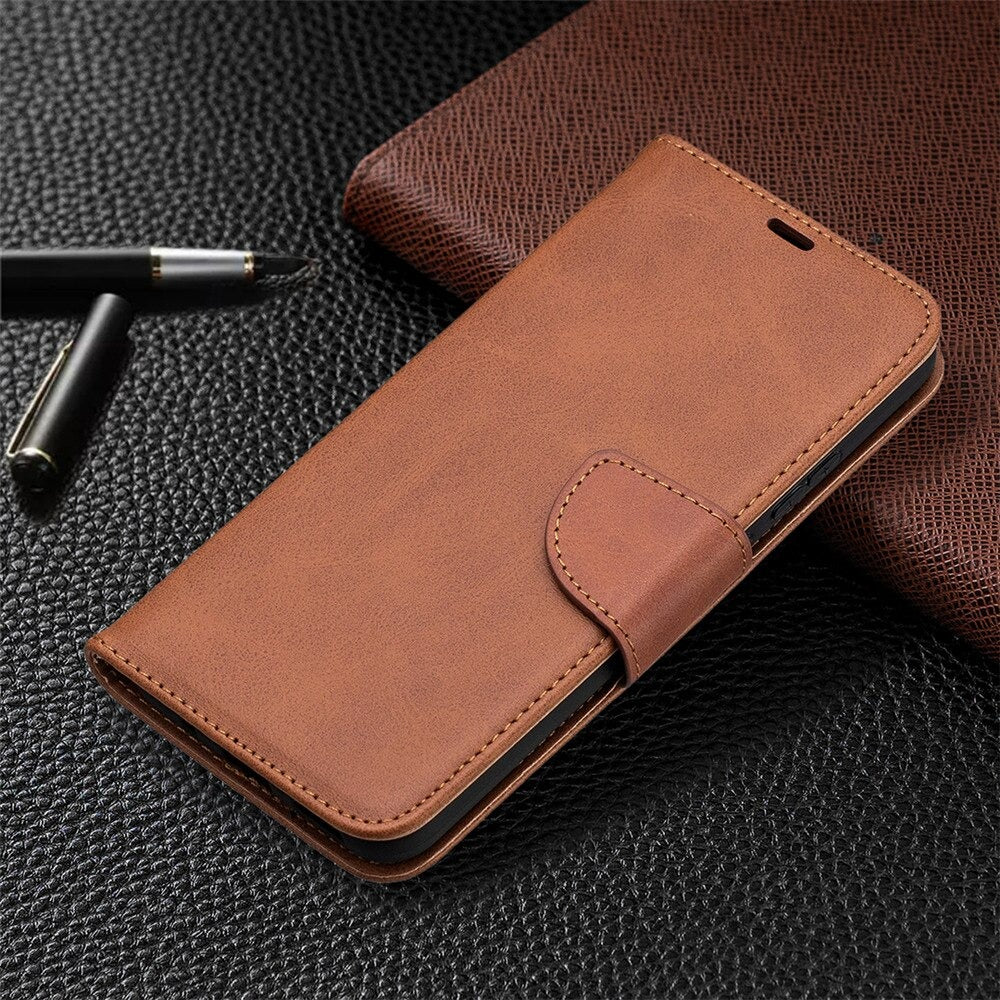iPhone X/ XS Case - Wallet - Brown