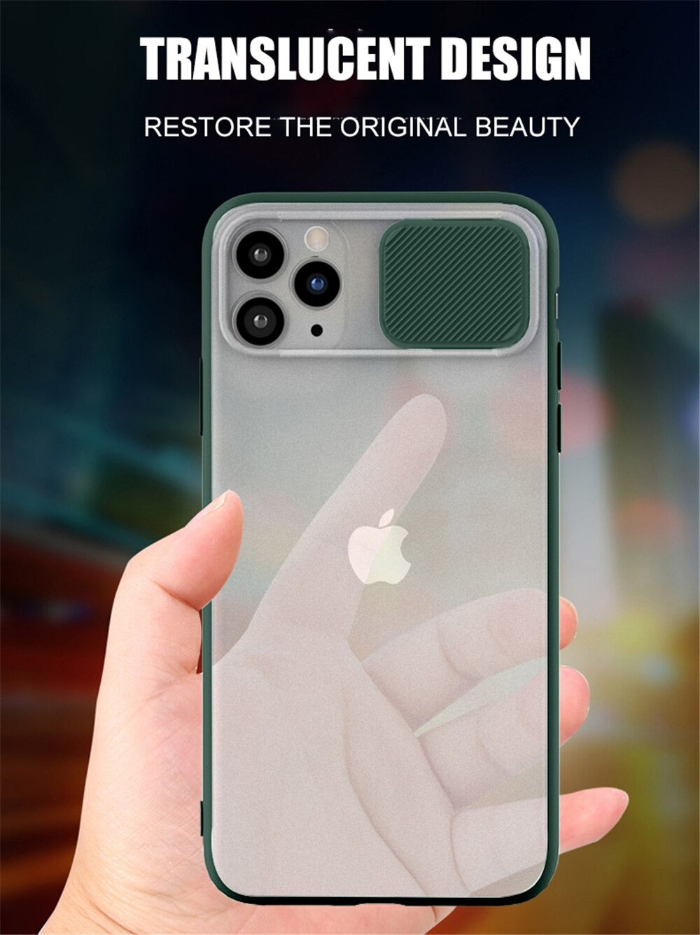 iPhone X/ XS Case - Black - Frosted Camera Slider