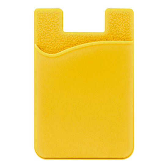 Silicone Card Pocket Storage for Mobile Phone - Yellow