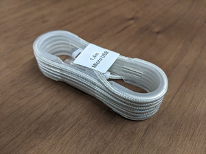1.4m Micro USB Charger Cable - 4 Colour Options [2 PACK]