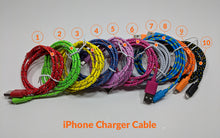 Load image into Gallery viewer, 2.0m Lightning Fabric Charger Cable - Yellow