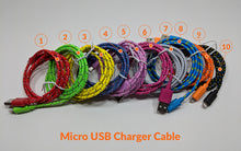 Load image into Gallery viewer, 2.0m Micro USB Fabric Charger Cable - Dark Pink