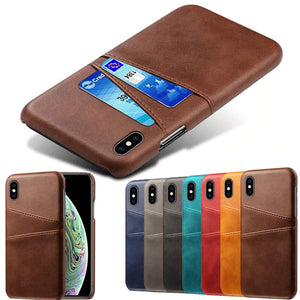 iPhone 12 Pro Max Case - Back Card Slot - Brown