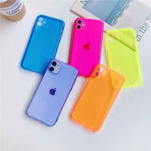 iPhone X/ XS Case - Soft - Fluorescent Yellow