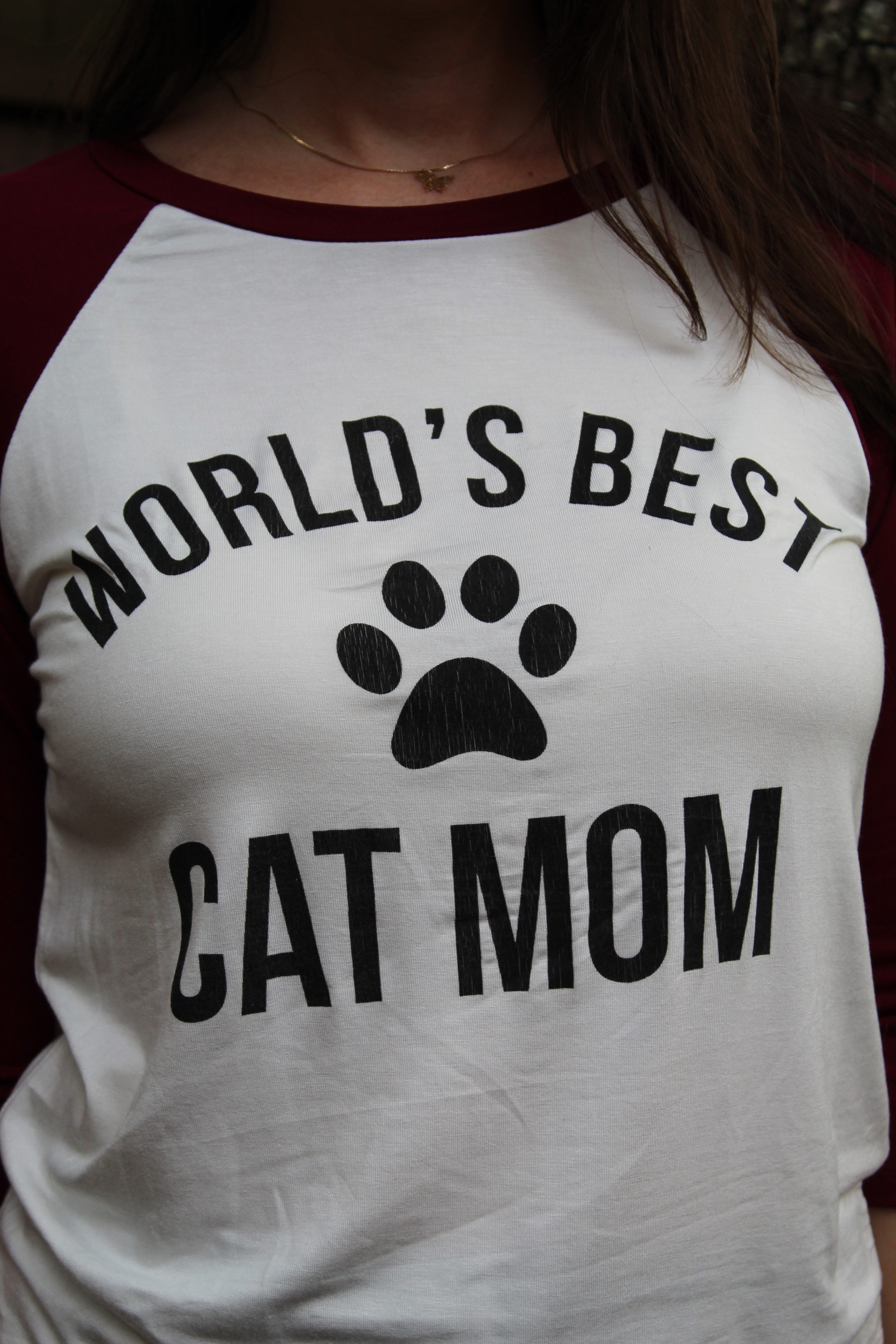 'World's Best Cat Mom' Graphic Tshirt
