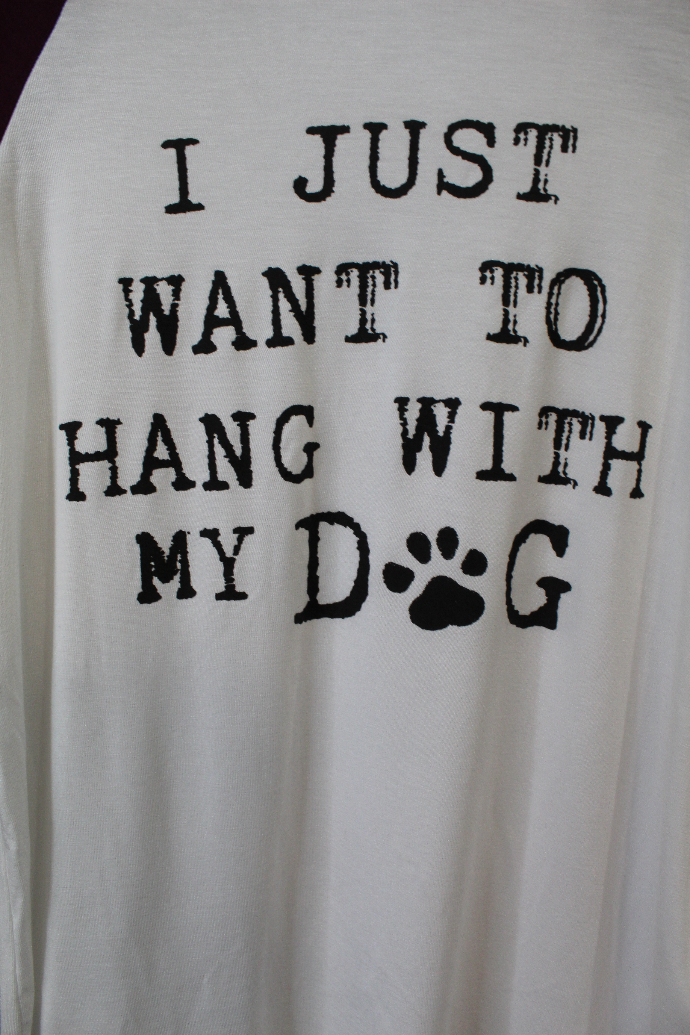 'I Just Want To Hang Out With My Dog' Graphic Tshirt