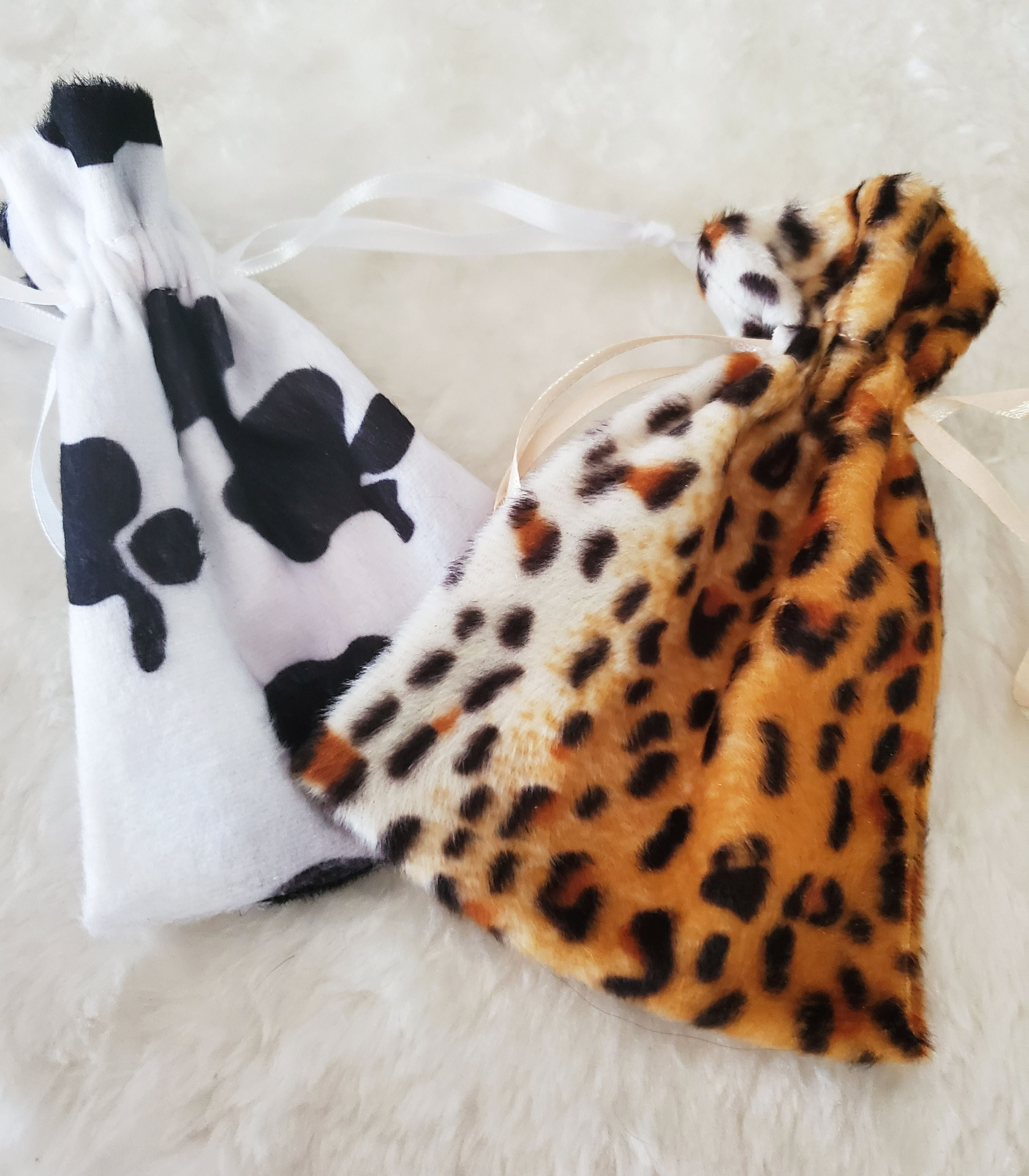 Faux Fur Animal Print Bags