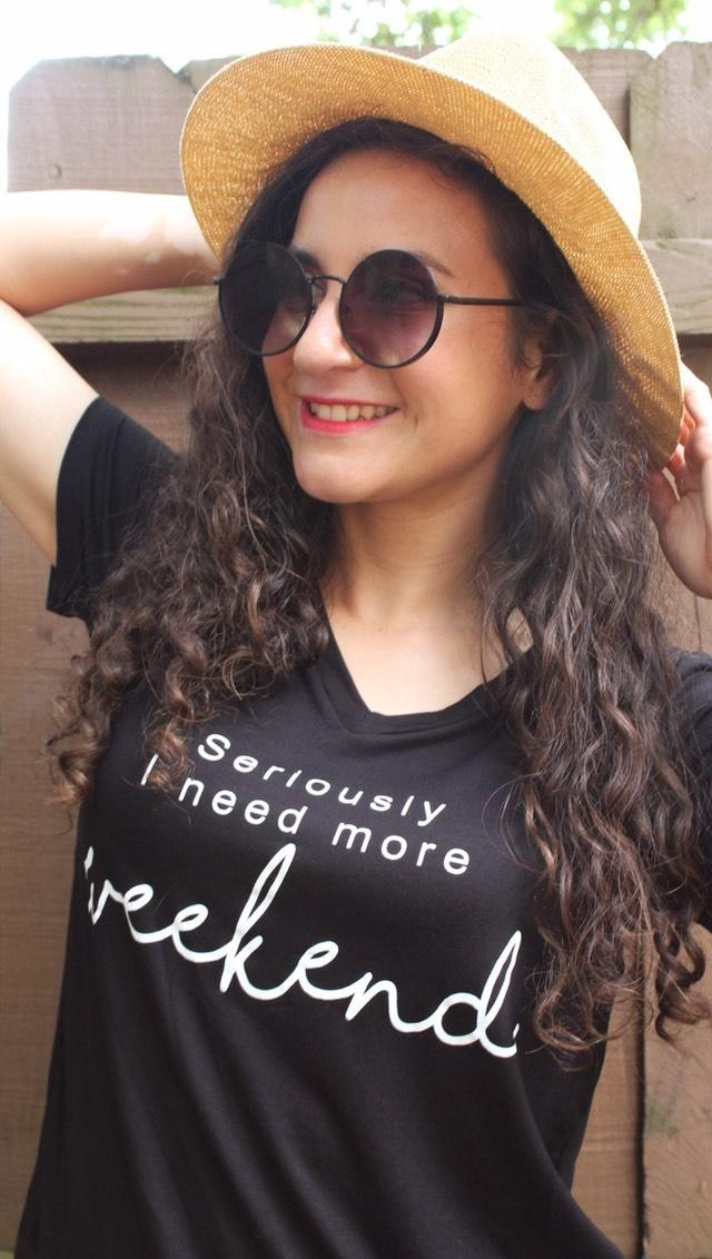 'Seriously Need More Weekend' Graphic Tshirt - Black