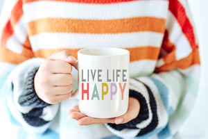 'Life Life Happy' Coffee Mug