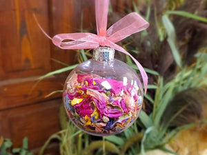 Dried Flower Christmas Ball Ornament