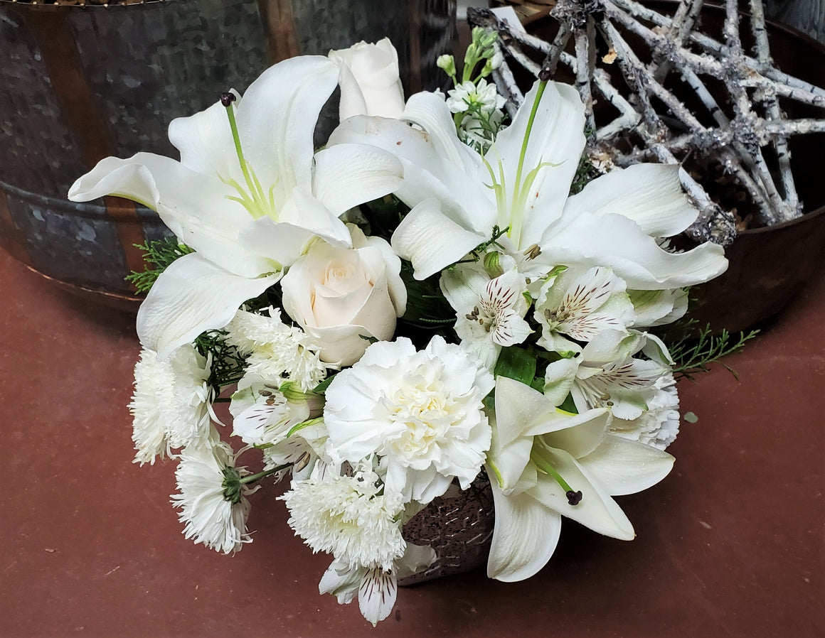 Sympathy Fresh Flower Arrangement