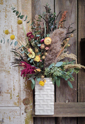 Dried Flower Arrangment (Warm Colors)