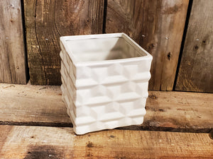 Ceramic Geometric Basket Vase