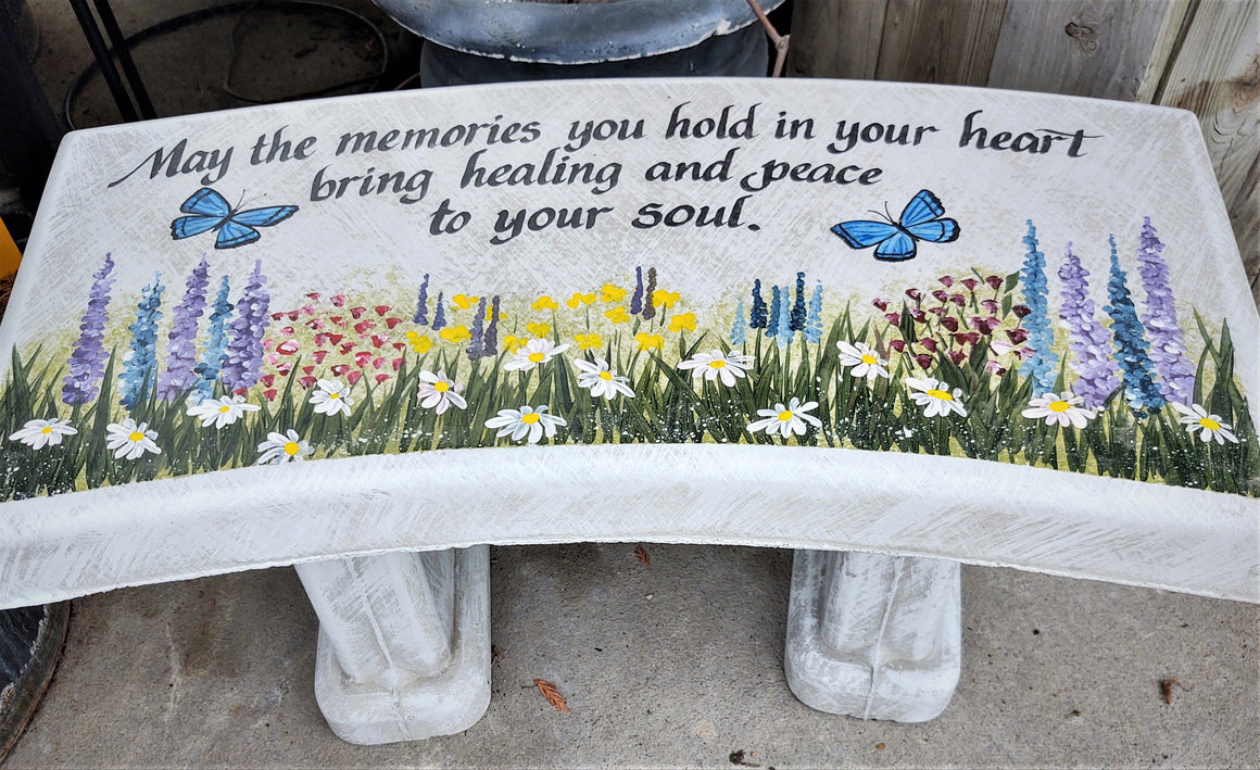3-Piece Painted Memorial Garden Bench