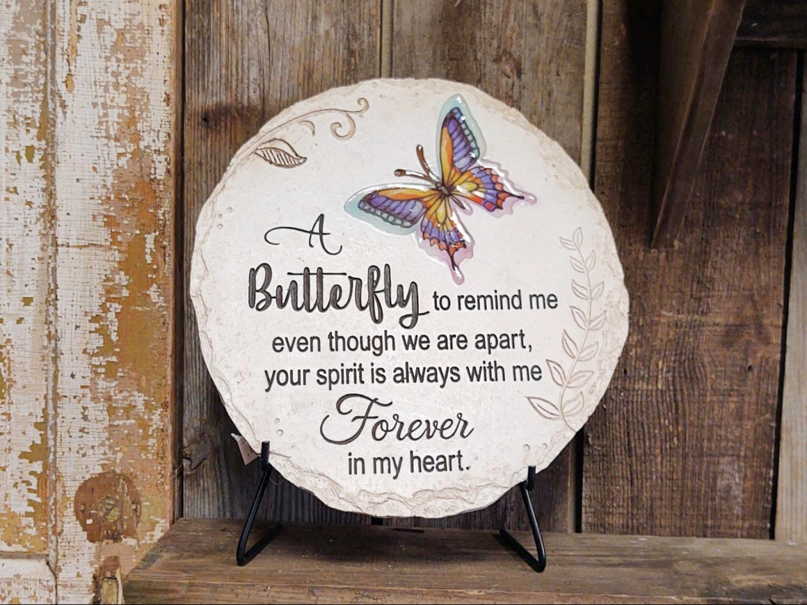 Memorial Garden Stone, A Butterfly to Remind Me