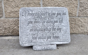 Memorial Garden Stone, Broke My Heart