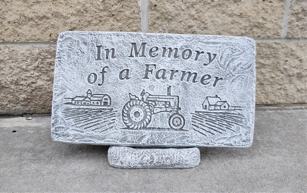 Memorial Garden Stone, In Memory of a Farmer