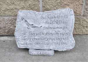 Memorial Garden Stone, Trust in the Lord