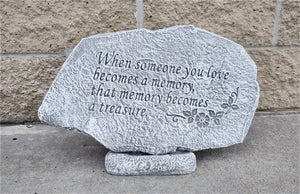 Memorial Garden Stone, When Someone You Love