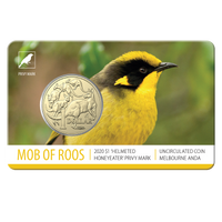 2020 $1 MOR ANDA Helmeted Honeyeater BU card