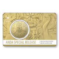 2020 50c Gold Plated with M Privymark card