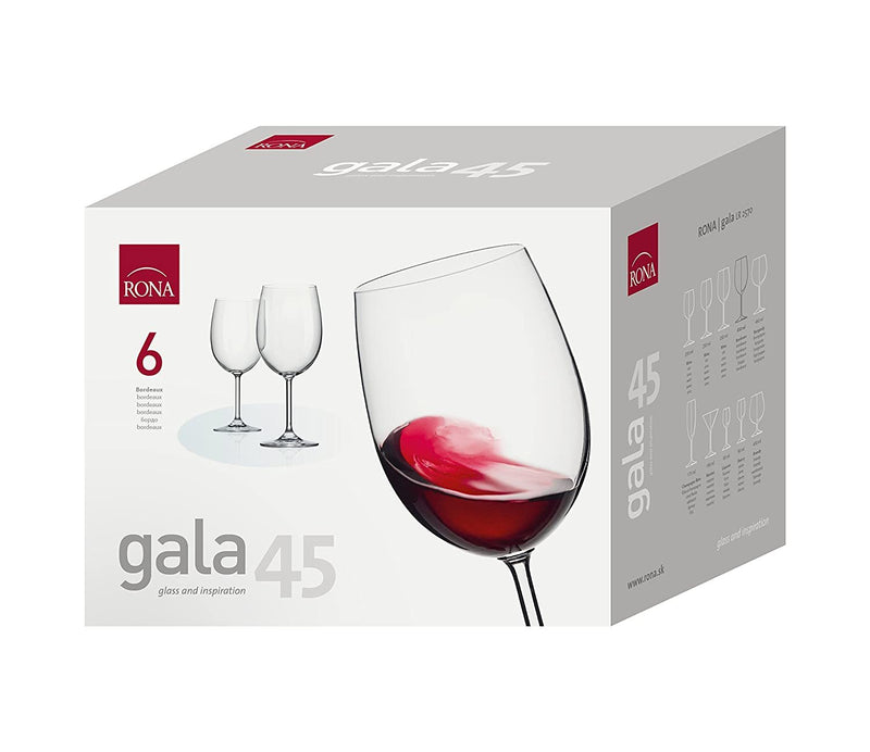 "COPA RONAGALA Art. No. 2570 450 Bordeaux15  450ml 16oz H208mm 8¼"" D 86mm 3½"""" 5"""