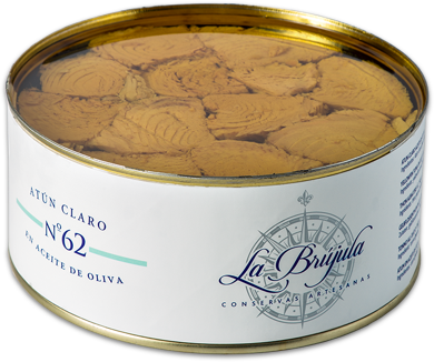 CONSERVAS LA BRÚJULA LB62 YELLOWFIN TUNA TRUNK IN OLIVE OIL
