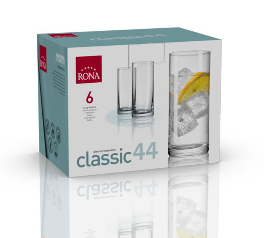 "RONA VASO CLASSIC	Art. No. 1605 440  Long drink XL   440ml 15oz  H161mm 6½"" D70mm 2¾"""