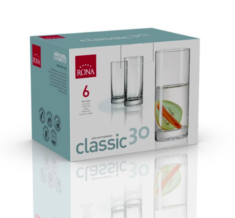 RONA VASO  CLASSIC	Art. No. 1605 300  Mix drink  300ml 10¼oz  H145mm 5¾""