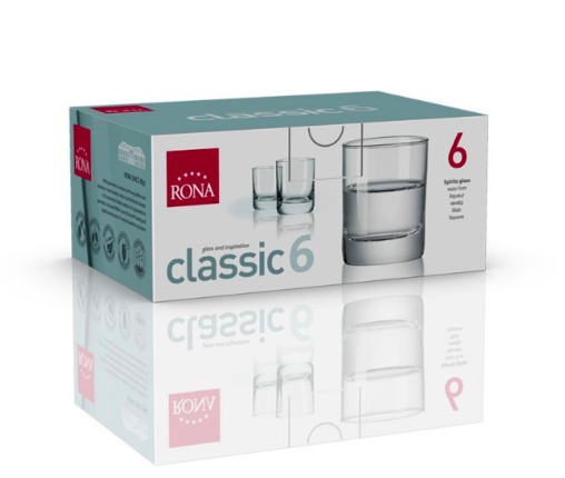 "RONA VASO 	CLASSIC	Art. No. 1605 60  Spirirts Glass  60ml 2¼oz H61mm 2½"" D48mm 2"""