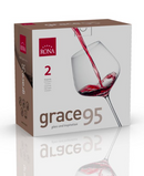 "RONA COPA	GRACE	Art. No. 6835 950  Burgundy  950ml 32¼oz  H245mm 9¾"" D125mm 5"""