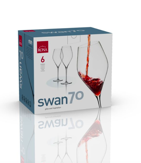 "RONA COPA	SWAN Art. No. 6650 700  Bordeaux  700ml 23¾oz  H278mm 11"" D101mm 4"""