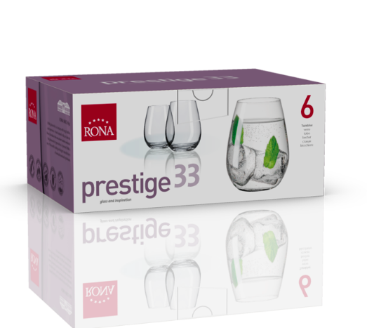 "RONA COPA  PRESTIGE	  Art. No. 6339 330 Tumbler 330ml 11¼oz   H100mm 4"" D79mm"