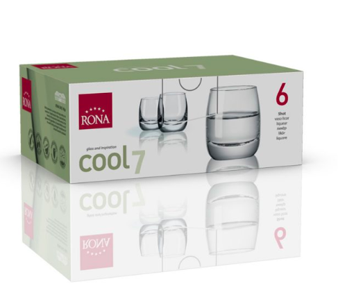 "RONA VASO COOL	Art. No. 4218 70  Shot  70ml 2¼oz  H57mm 2¼"" D50mm 2"""