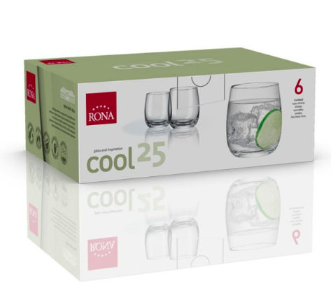 "RONA VASO	COOL	Art. No. 4218 250  Cocktail  250ml 8½oz  H90mm 3½"""" D79mm 3"""