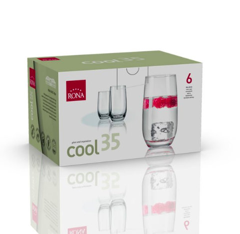 "RONA VASO	COOL	Art. No. 4218 350  Mix drink  350ml 12oz H132mm 5¼"" D73mm 2¾"""