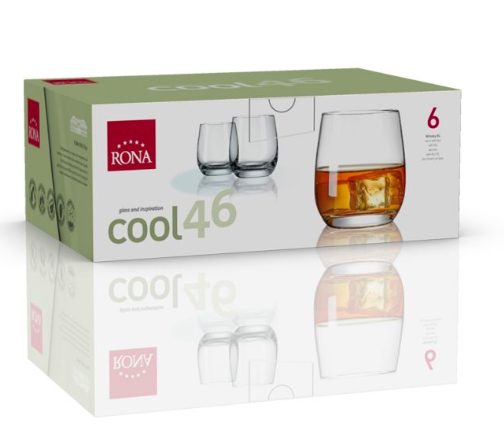 "RONA VASO	COOL	Art. No. 4218 460  Whisky XL  460ml 15½oz  H103mm 4"" D90mm 3½"""