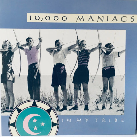 "10,000 Maniacs, ""In My Tribe"" LP (1987). Cover image. Nathalie Merchant. Alternative rock."