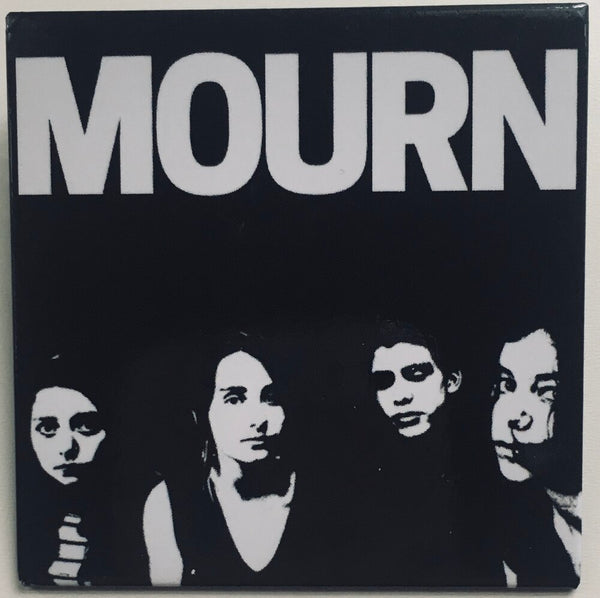 "Mourn, ""Mourn"" LP and ""Otitis"" Single and Pin Bundle pack. Poster (pin) image. Captured Tracks. Catalan punk."