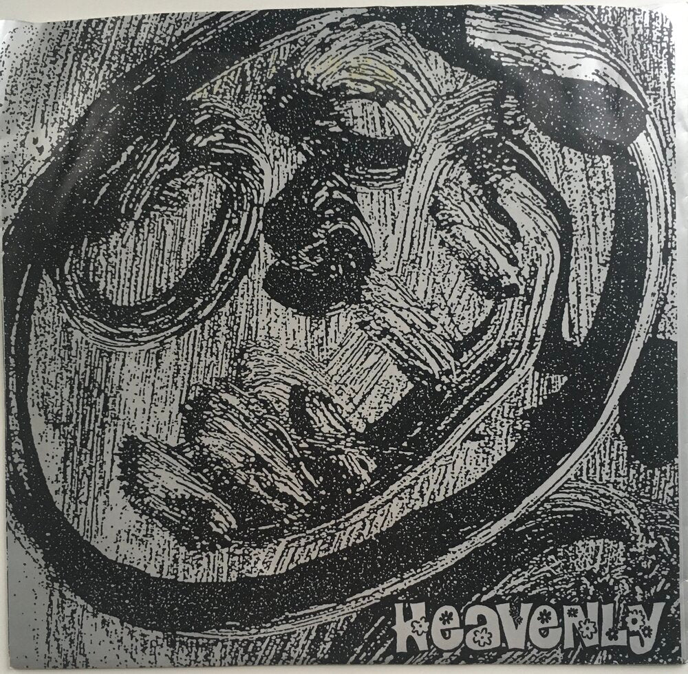 "Heavenly, ""She Says"" Single (1991). Front cover image. Sarah Records alum. Talulah Gosh, Heavenly, Marine Research. Pop, twee, jangle-pop, shoegaze."