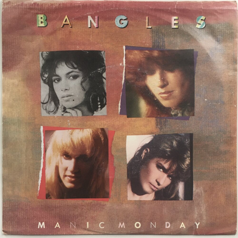 "The Bangles, ""Manic Monday"" Single (1988). Front cover image. Pop, power-pop, from Different Light."